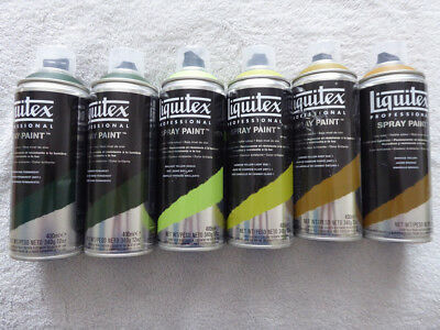 Liquitex Spray Paint Acrylfarbspray - 6 Farben Set