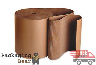 1 x 750mm x 5m CORRUGATED CARDBOARD PAPER ROLL 5 METRES | FREE UK DELIVERY