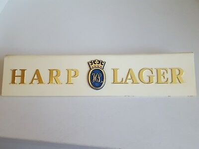 Harp lager sign. From 1960/70s. Plastic.