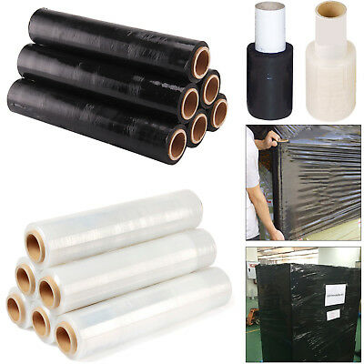 Black & Clear Pallet Shrink Wrap Strong Stretch Cling Film Standard & Small Size