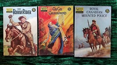 3 CLASSICS ILLUSTRATED #141A - ROUGH RIDER- Roosevelt, 135A 10 Command, 150A