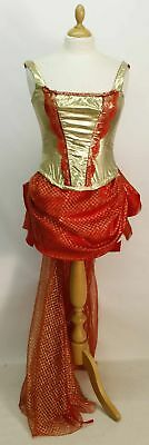 Moulin Rouge/Burlesque Gold/Red Costume