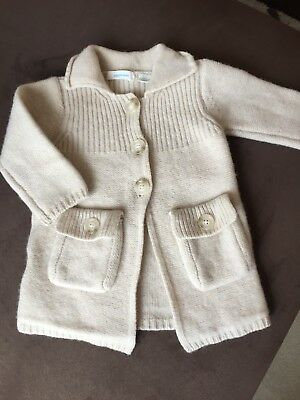 Country Road Baby Wool Beige Cardigan Size 6-12mths