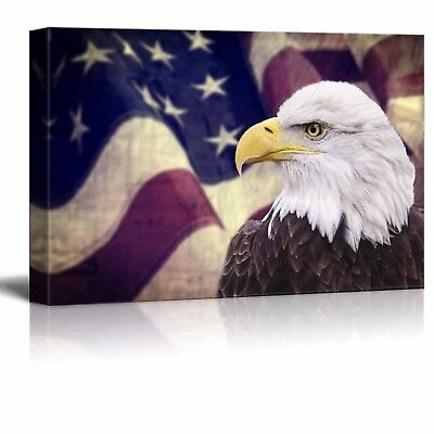 Gun with the American Flag Pattern 16x24 inches Canvas Wall Art Wall26