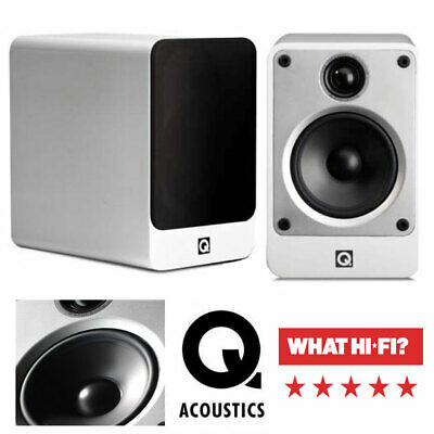 Q ACOUSTICS 3010 2-Way Cinema HIFI Gloss Black Award Winning Bookshelf Speakers
