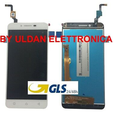 TOUCH SCREEN VETRO + LCD DISPLAY Assemblati Per LENOVO K5 VIBE A6020A40 BIANCO
