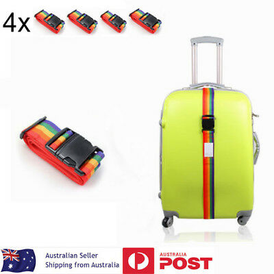 4x Travel Luggage Suitcase Bag Packing Secure Safe Strap Belt Lock 183cm NEW
