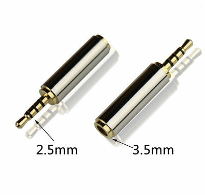 3.5mm Female to 2.5mm Male Stereo Audio Headphone Jack Plug Adapter Converter