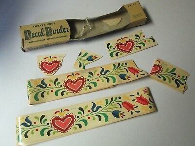 Partial Package of Vintage Meyercord Co. Decal Border