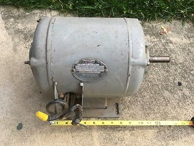 B Line RI repulsion Induction 1hp motor single phase vintage