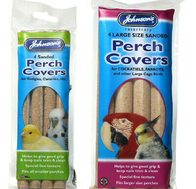 Johnsons small perch covers 4 per pack Budgies Canary Canaries
