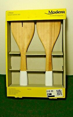 Flatware, Knives & Cutlery Home & Garden New Modern By Dwell Magazine 2-piece Bamboo Salad Server Set