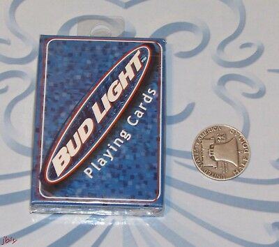 Bud Light Blue Bicycle Playing Cards 1999 Factory Sealed NOS