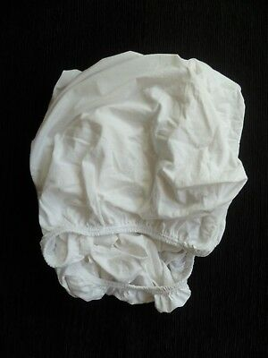 Baby clothes UNISEX BOY GIRL 3-6m fitted white sheet cot soft cotton SEE SHOP!