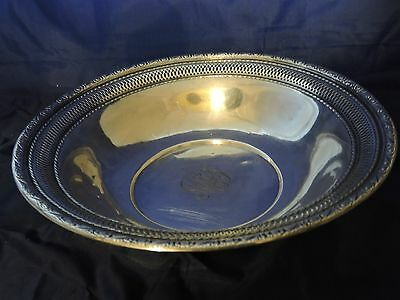 Reduced!!  Sterling Silver Filigree Bowl 9.7 ounces