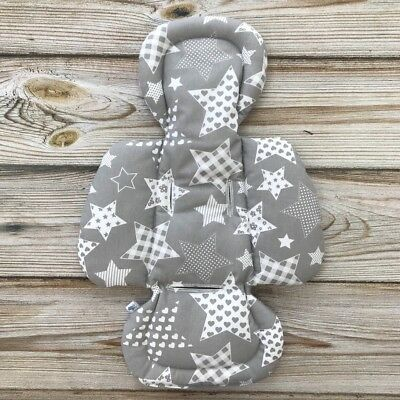 Gray Stars Handmade Newborn Insert for mamaRoo rockaRoo 4moms Infant Seat Grey