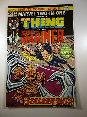 Marvel Two-In-One #2 Thing and Sub-Mariner!! MVS Intact!! Fine/VF Condition!!