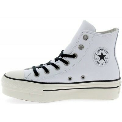 uk store usa cheap sale new list WHITE CONVERSE PLATFORM Leather High Top Chuck Taylor All ...