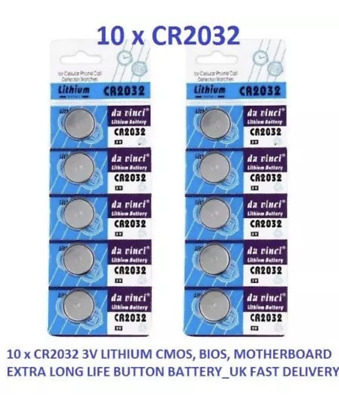 10 X Cr2032 Branded Maxell 3V Lithium Coin Cell Button Batteries Br2032  L14