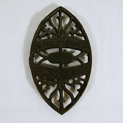 Sad Iron Trivet Dubuque Potts Cast Iron