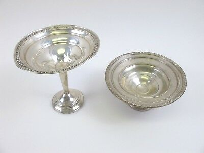Antique Sterling Silver .925 Weighted Compotes 376Grams