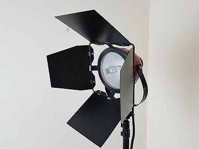 3 x Red Head 800W studio lights with tripods and carry bag