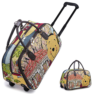 Kids Funky Winnie The Pooh Vintage Holdall Trolley Bag Hand Luggage Travel Size