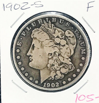 1902-S Morgan Silver Dollar better date free shipping