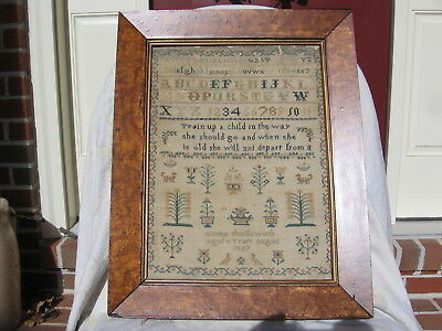 Antique Mid-19th Century Sampler dated 1857
