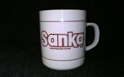 Sanka ~ Everything You Love About Coffee But Decaffeinated ~ Vintage White Mug