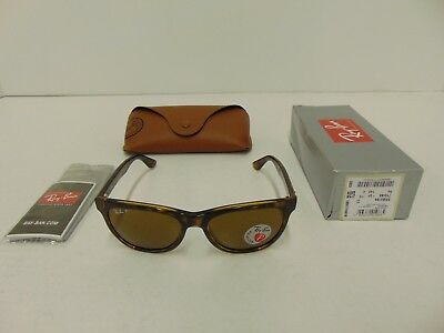 01233737cb RAY-BAN RB4184 710 83 Sunglasses Polarized Wayfarer Tortoise Havana ...