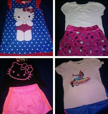 Lot of 60 5T Girls, Summer Clothing, Shorts, Dresses, Shirts, Tops, Night Gowns,