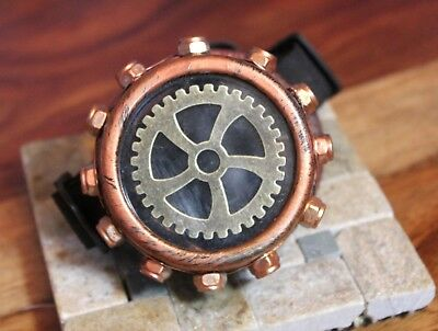 Steampunk monocle goggle custom cog and copper mesh