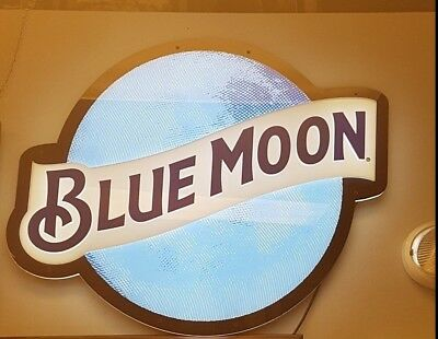 Brand New Blue Moon LED Beer Bar Neon Light Sign Store Advertising Display
