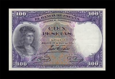 "25.4.1931 Bank Of Spain 100 Pesetas Madrid ""rare"" (( Ef+ ))"