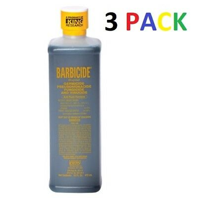BARBICIDE Disinfectant Anti Rust Formula 16 Oz (PACK OF 3) FAST FREE SHIPPING !!