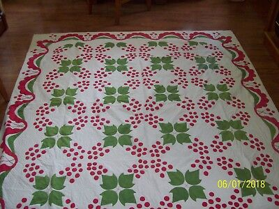 """Antique 1840's Hand Sewn-Quilted Quilt 71"""" 81"""""""