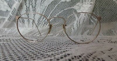 Antique American Optical Ful Vue Ornate Engraved Round Spectacle  Eyeglasses
