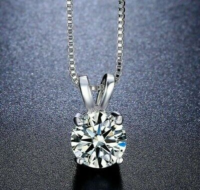 18K White Gold Plated Necklace & Stud Earrings Set Made with Swarovski Crystals