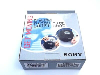 Official Genuine Sony Portable Personal CD Player Walkman Carry Case Pouch Black