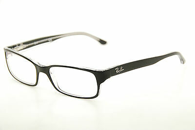 New Authentic Ray Ban RB 5114 2034 Black/Clear 54mm Frames Eyeglasses RX