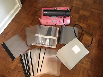 Unibind S12 Binding machine w assorted NEW books and covers. See details below
