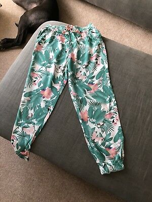 Girls Patterned Trousers Age 6-7 Yrs