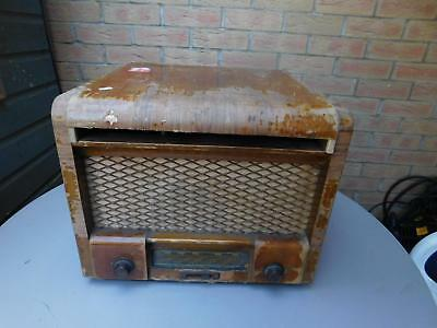 Vintage Collaro electric valve radio gramophone record player for Restoration