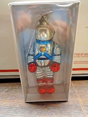 DEPT 56  Mercury Glass  ASTRONAUT ORNAMENT 7'' TALL
