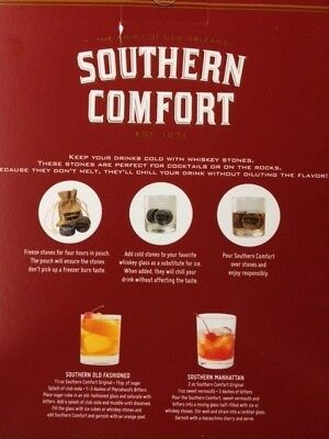 Southern Comfort Rocks Glasses &  logo Whiskey Stones !! Limited Edition