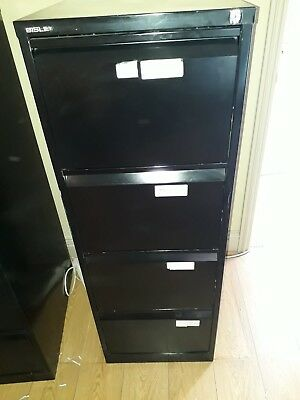 Bisley 4 Drawer Filing Cabinet - Black