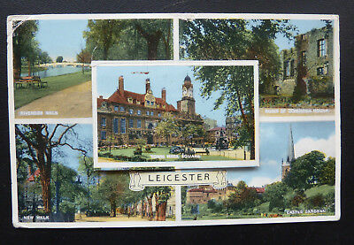 Novelty Pull Out Postcard - Souvenir of Leicester