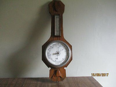 Antique TARS & W  London Wall Barometer and thermometer Inlaid Art Deco