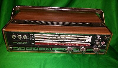 Vintage Telefunken Bajazzo Deluxe 205 Wood Grain Shortwave Radio WORKS!
